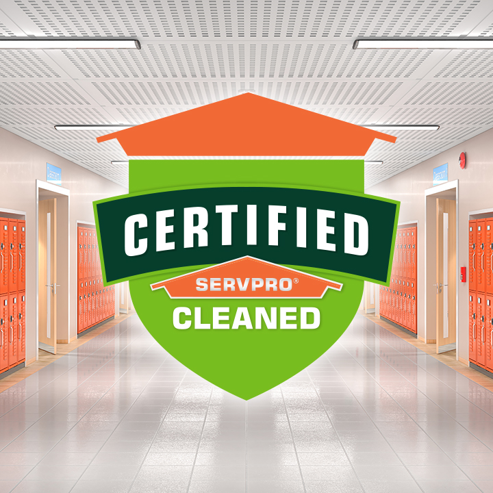 24/7/365 - image of Certified: SERVPRO Cleaned logo